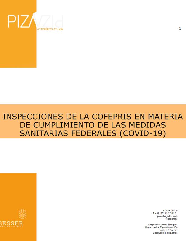 Verificaciones Extraordinarias de la COFEPRIS por COVID-19